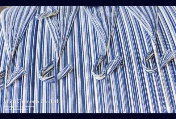 vải cotton sọc Matsusaka Momen