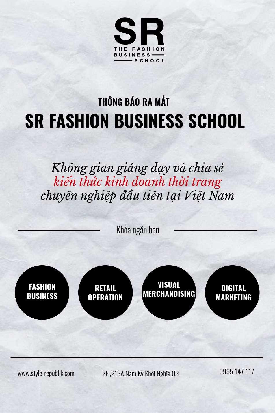 Giảng dạy kiến thức kinh doanh thời trang đầu tiên tại Việt Nam